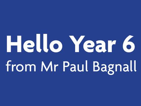 Hello Year 6