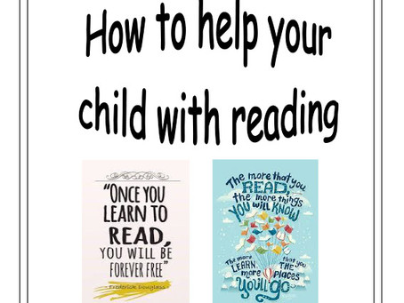 How to help your KS1 child with reading
