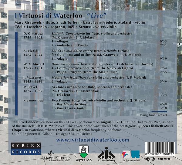 I virtuosi di Waterloo ARRIERE CD.png