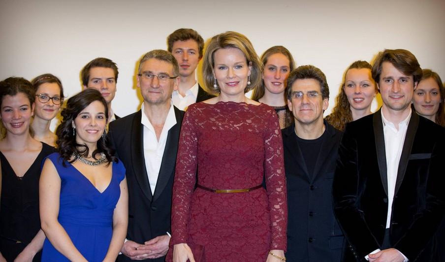 Sa Majesté La Reine Mathilde, Jodie Devos, Lorenzo Gatto, Dirk Brossé et the Young Belgian Strings