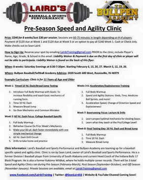 PRE-SEASON SPEED & AGILITY CLINIC