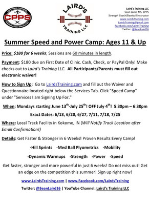 Summer Speed and Power Camp