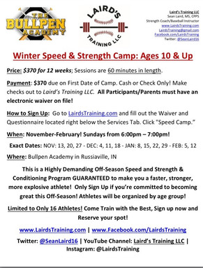 Winter Speed & Strength Camp