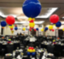 36 3ft balloon centerpieces. Corporate d