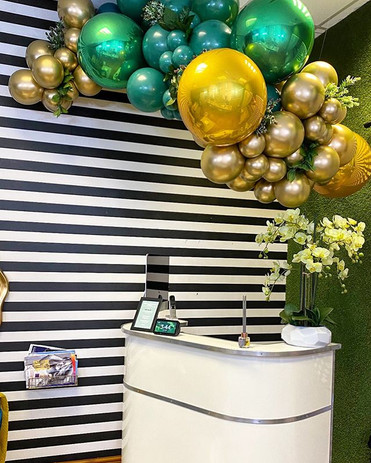 Check out our floating garland, the perf