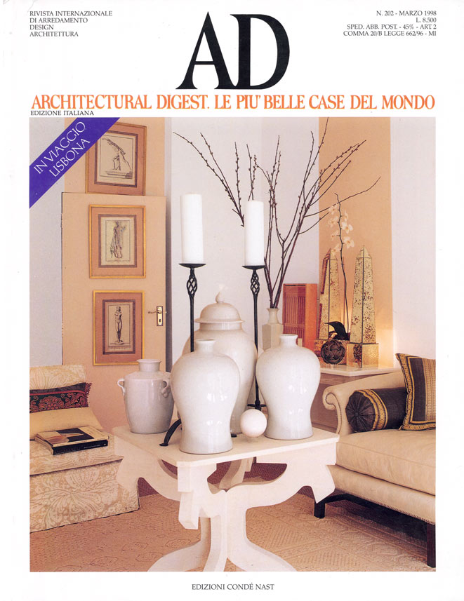 Architectural Digest Magazine Cover
