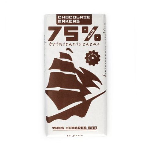 Chocolade 75% Tres Hombres met nibs