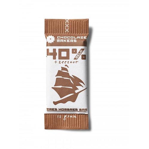 Mini Chocolade 40% Tres Hombres met zeezout
