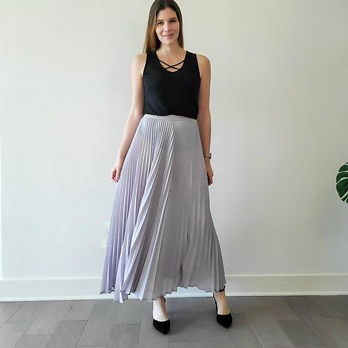 Maddy Pleated Midi Skirt