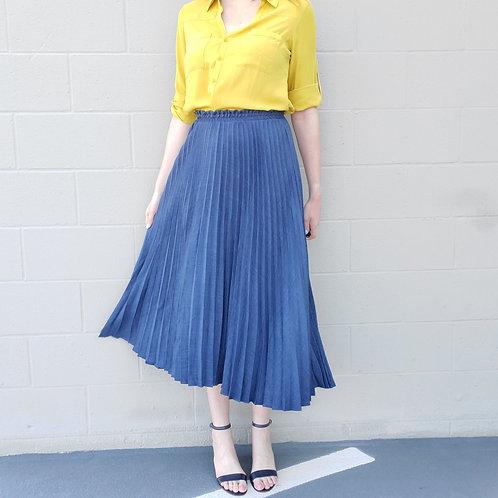 Vivi Pleated Midi Skirt