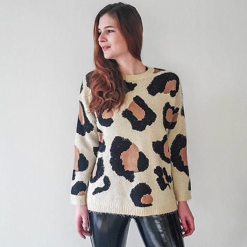 Simba Animal Print Sweater