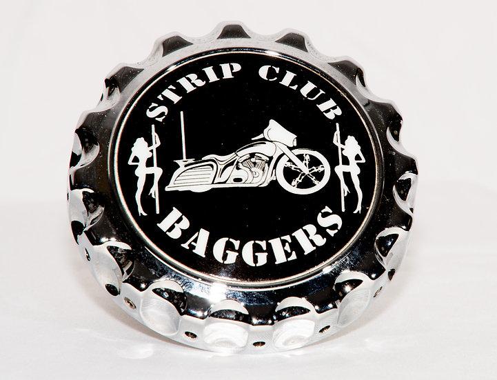 SCC Strip Club Baggers Chrome Gas Cap