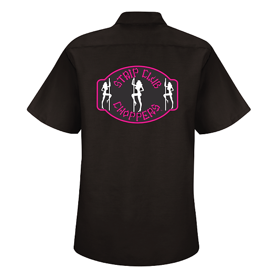 Women's SCC Cancer Awareness PINK/BLK Mechanic-Stye Shop Shirt