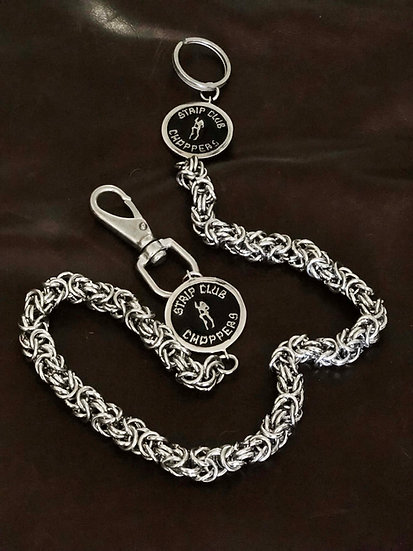 SCC Stainless Steel Byzantine Style Wallet Chain