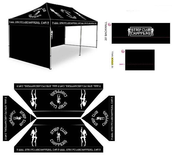 SCC Strip Club Choppers 10'x20' Tent