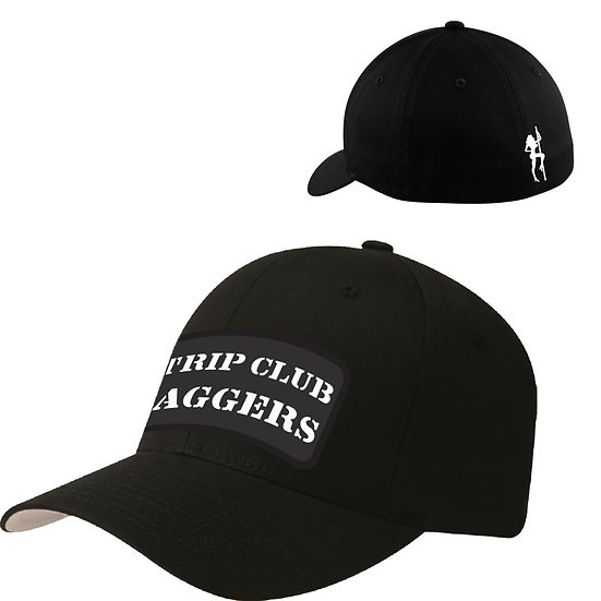 Strip Club Baggers Curved Bill Fitted Hat Ball Cap