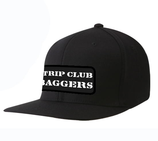 Strip Club Baggers Flat Straight Bill Hat Ball Cap