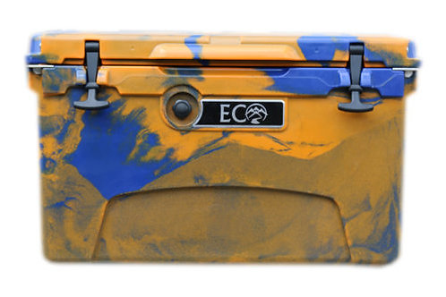 Ice Anchor Rack + Orange/Blue Camo Eco Cooler Package