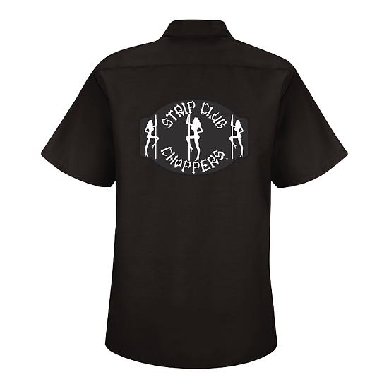 Women's SCC Classic Pole Girl Logo Mechanic-Style Shop Shirt