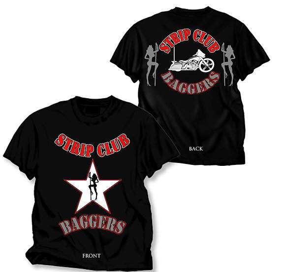 Men's SCC Black Short Sleeve T-Shirt Star Baggers Theme
