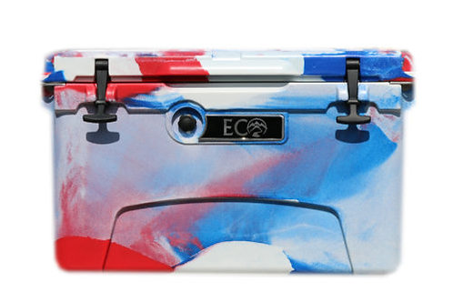 Ice Anchor Rack + Red/White/Blue Camo Eco Cooler Package