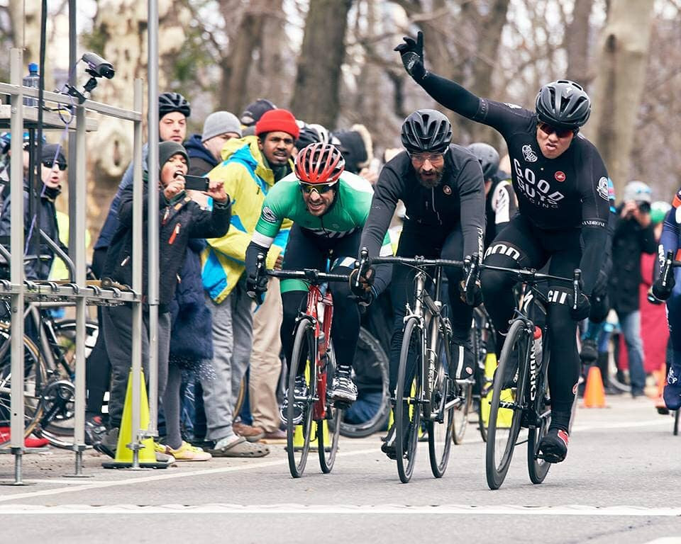 Conor winning the NY State Criterium Championships (March 2018)