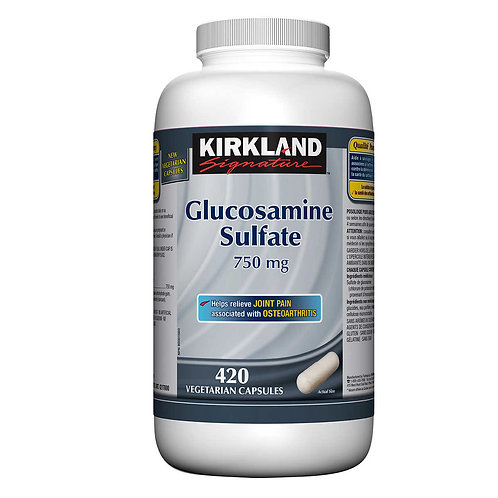 Kirkland Signature 葡萄糖胺軟骨素750 mg膠囊(420粒)