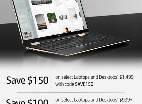 【HP】Desktop及Laptop最高慳C$150