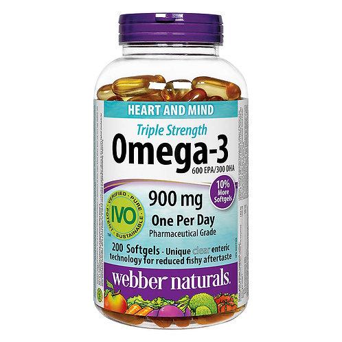 Webber Naturals 奧米加-3 900 毫克(特強配方)(200粒)