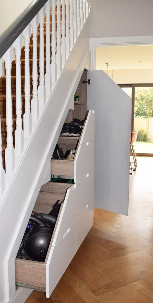 Drumcondra staircase and storage