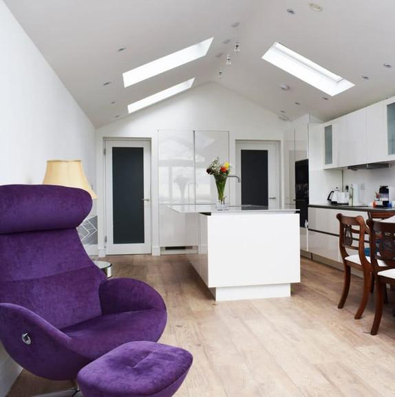 Raheny kitchen dining room area