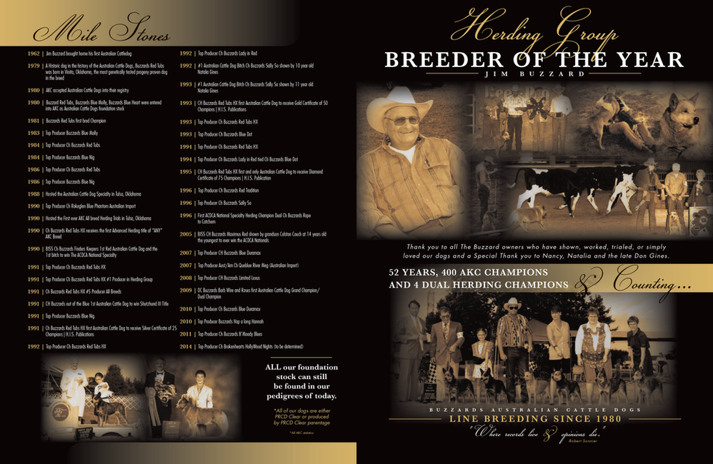 AKC Breeder of the Year Showsite Ad