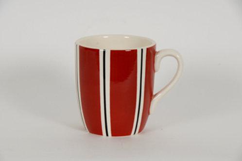 Mug BOLS&CO rayures rouge 30cl