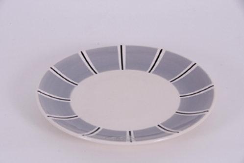 Assiette dessert BOLS& CO rayures grise 22 cm