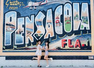 Downtown Pensacola Graduation Photography Session Downtown Pensacola Florida Murals