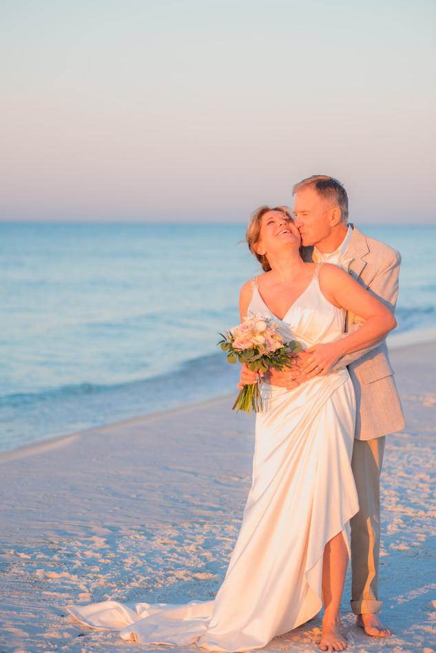 Pensacola Beach Elopement Photographer Margaritaville Pensacola Beach Wedding Photographer Sunrise Beach Wedding Photographer