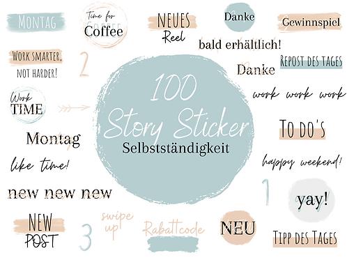 "100 Story Sticker ""Business"" Blaue Edition"