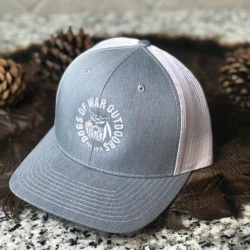 Richardson Trucker Cap - Heather Grey/White