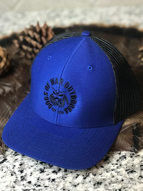 Richardson Trucker Cap - Royal/Black