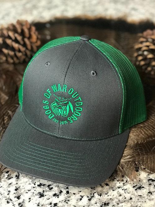 Richardson Trucker Cap - Charcoal/Kelly