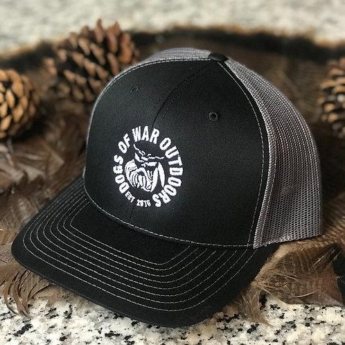 Richardson Trucker Cap - Black/Charcoal