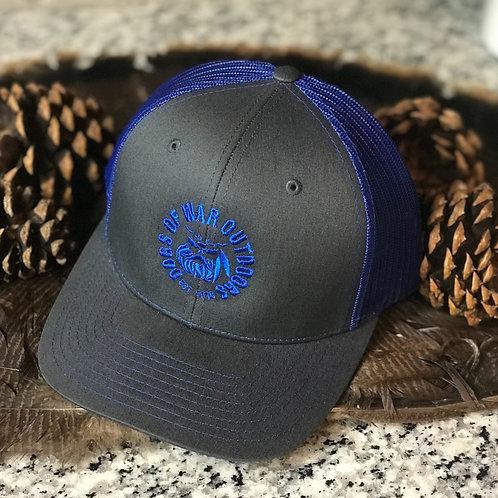 Richardson Trucker Cap - Charcoal/Royal