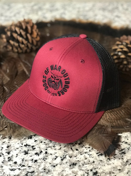 Richardson Trucker Cap - Cardinal/Black