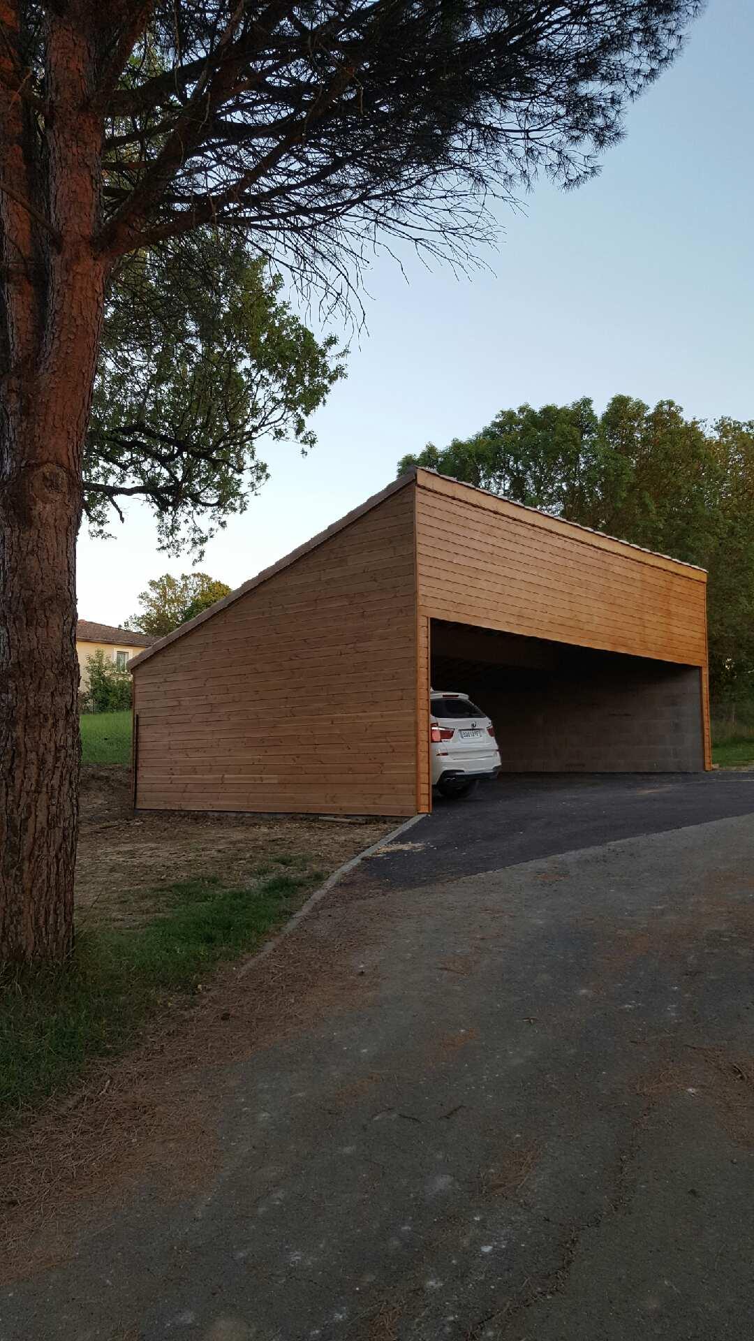 Garage mono pente