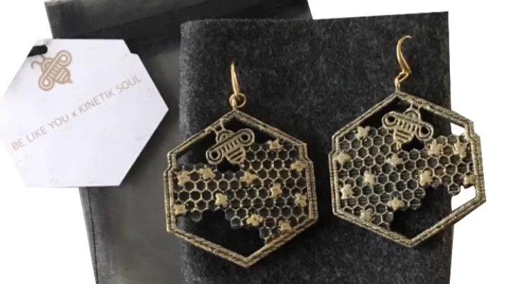 Eco-Friendly Custom Honey Bee Earrings