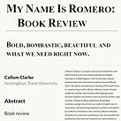 Literary Cultures - My Name Is Romero: Book Review