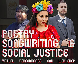 poetry songwriting and social  justice.j