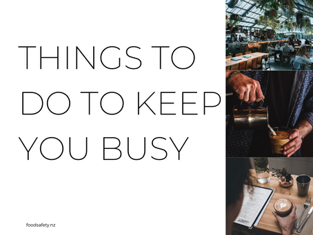 Things to do to keep you busy in the food retailer space.