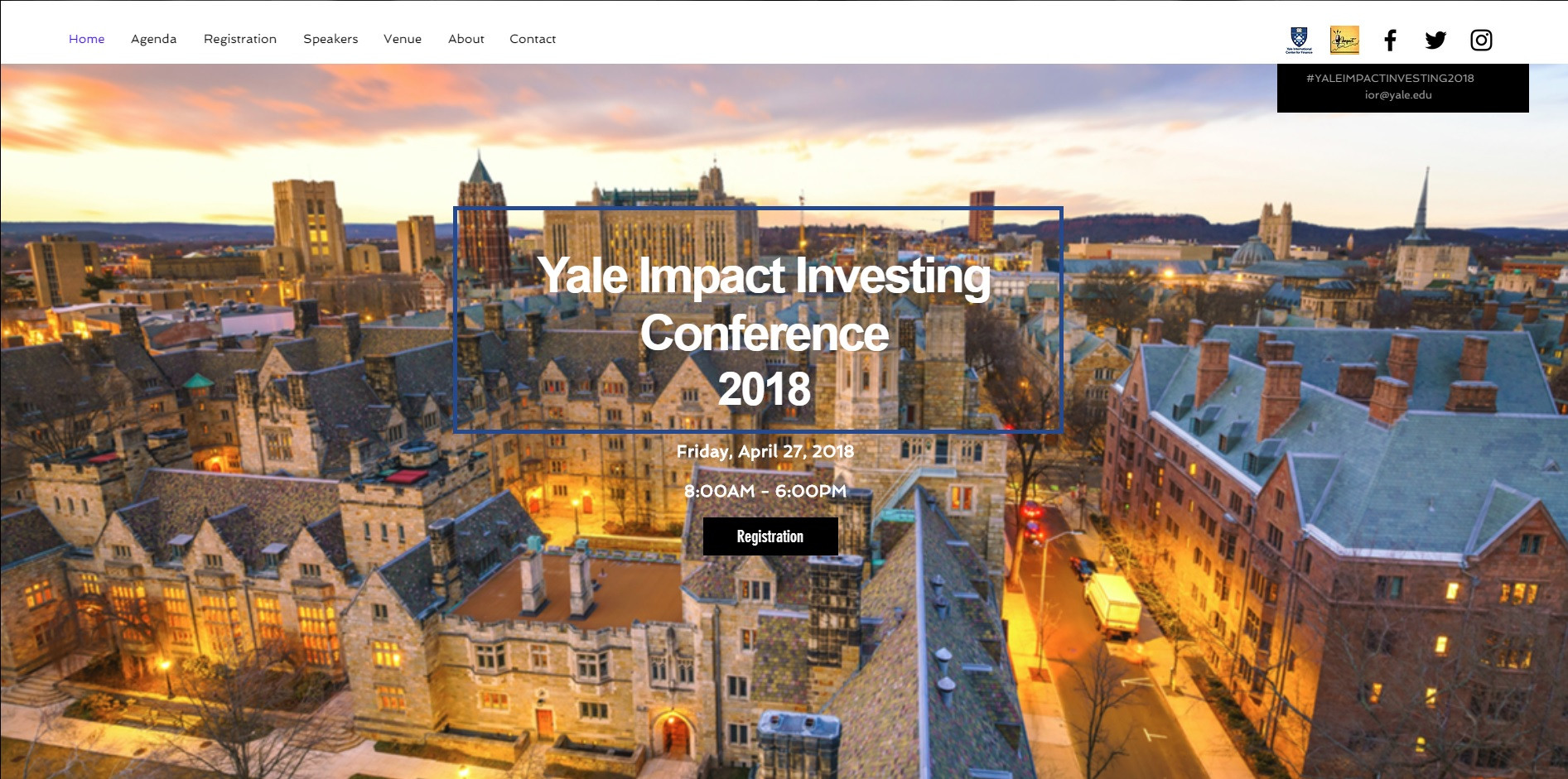 Home | New Haven | Yale Impact Investing Conference