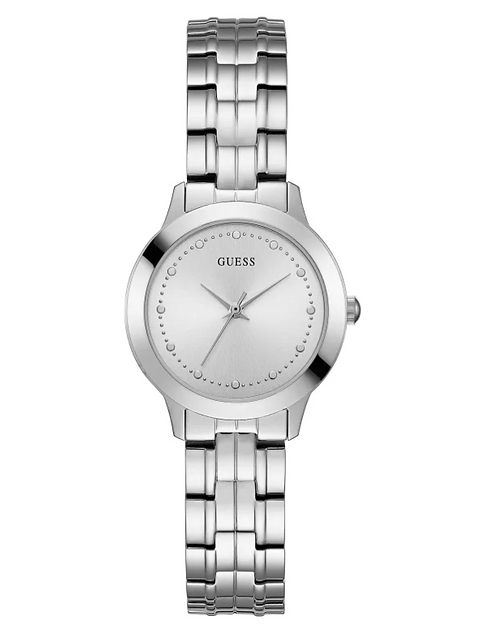 Woman's Guess Silver-Tone Slim Classic Watch